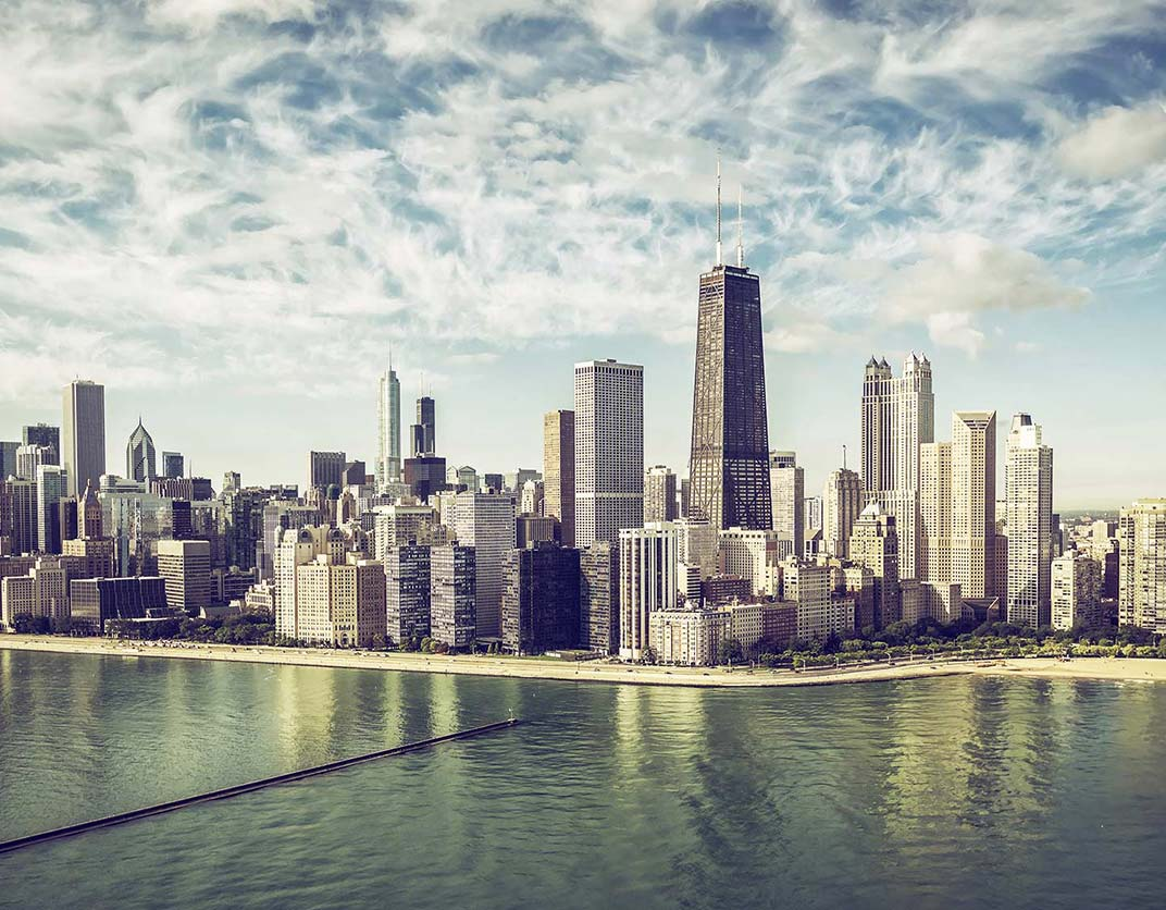 yorktown apartments - neighborhood - view of downtown Chicago from lake