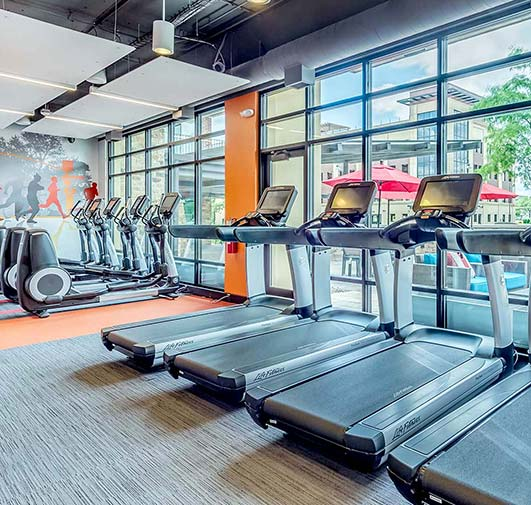 Yorktown Apartment Homes – Lombard, IL – Treadmill Workout Area